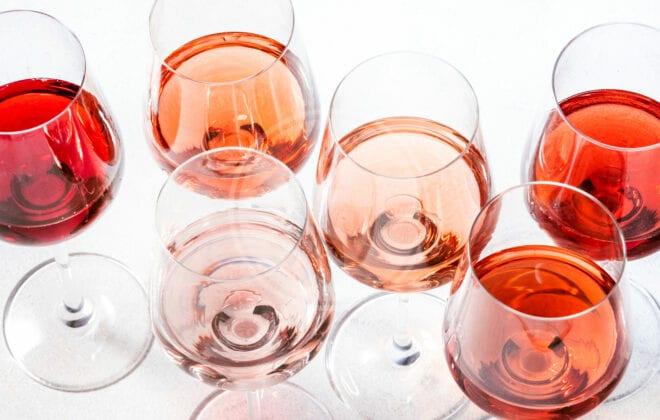 rosewineglassessetonwinetastingdegustationdifferentvarieties